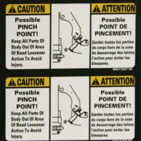 Caution Safety Sign Decals
