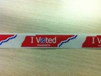 die-cut voteTN sticker