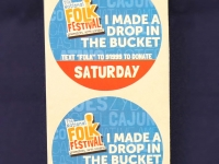folk festival sticker