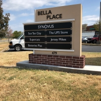 Bella Place Outdoor Wayfinding Monument Directional signage