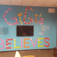 GiGi's Playhouse Wall graphics