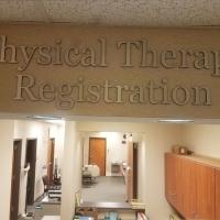 Hughston Clinic dimentional lettering