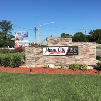 Music City Flats monument sign