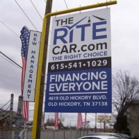 Rite Car Road Sign