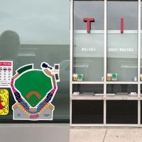 Sounds Baseball Ticket Window Decals SM