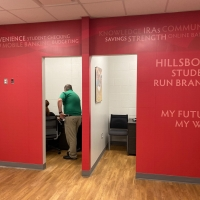 US Community Credit union wall graphics 1