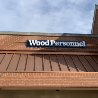 Wood personnel channel letter sign