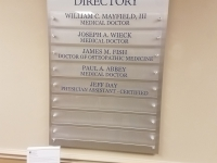 Hughston Clinic Directory Sign