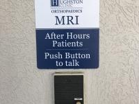 Houghton Clinic Exterior Entrance Sign