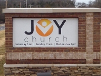 Joy Church Road Sign