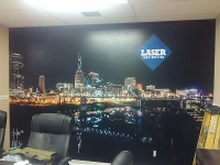 Laser Construction Wall Mural decal