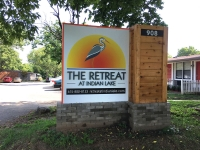 Retreat at Indian Lake Entrance sign SM