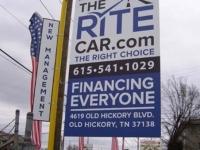 Rite Car Road Sign