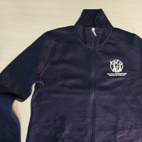 Embroidered Logo jersey jacket
