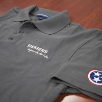 SEIMENS shirt with sleeve embroidery