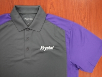 Gray and Purple Krystal shirt