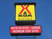 KOA Resort Pylon Sign
