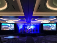 Club Assist Stage Backdrop with lighting