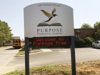 Purpose prep Pylon digital sign SM