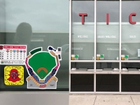 Sounds Baseball Ticket Window Decals SM