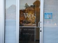 Wood Personnel exterior door window sign