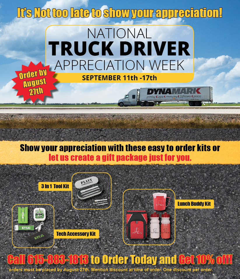 truckers appreciation promo items