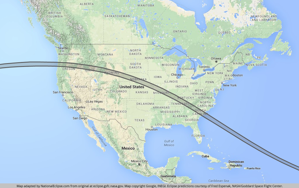 National Eclipse 2017 Map