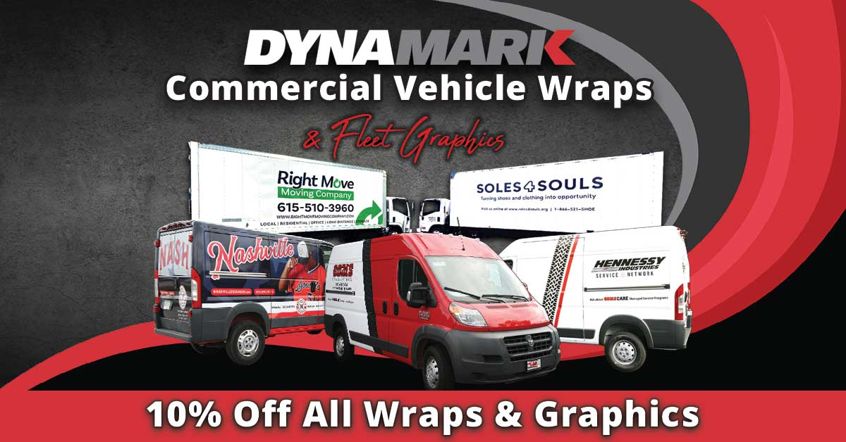 Dynamark commercial vehicle wraps and graphics image